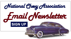 National Chevy Association Email Newsletter