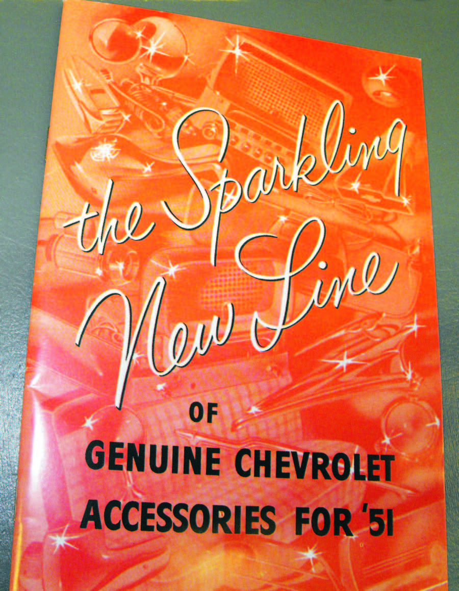 The Sparkling New Line of Genuine Chevrolet Accessories for '51