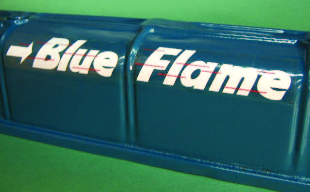 Blue Flame Decal