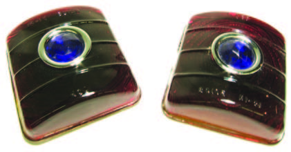 1951-1952 Glass Blue Dot Tail Light Lens